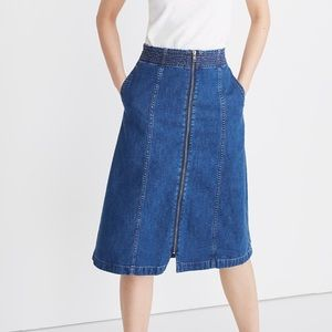 Madewell Rigid Denim Zip Skirt Size 23